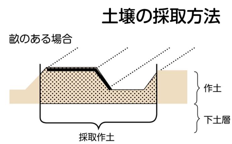 土壌の採取方法